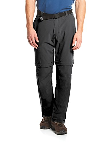 maier sports Herren Outdoor Hose T-Zipp Tajo, Black, 50