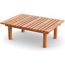 Ampel 24, Table décorative, table basse pour jardin, balcon ou terrasse   Meuble de jardin en bois   33cm de hauteur