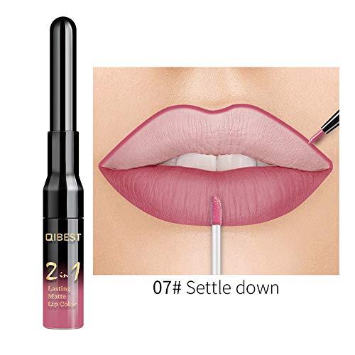 Neue Double-End Multifunktions Dauerhafte Lipliner Wasserdicht Lip Liner Stick Bleistift 20 Farbe...