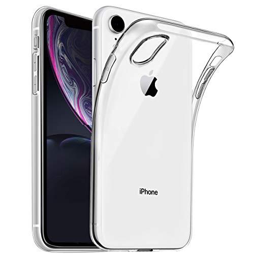 wsiiroon Hülle kompatibel mit iPhone XR, Hochwertige Schutzhülle für iPhone XR, Transparente Weiche Silikon TPU Handyhülle, Durchsichtige Silikonhülle (Crystal Clear)