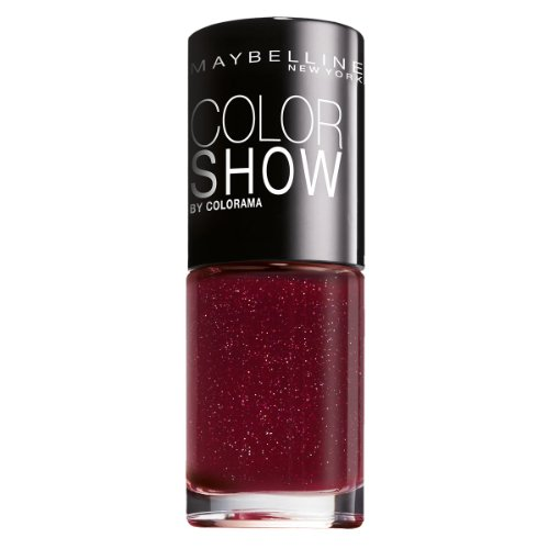 Maybelline New York Make-Up Nailpolish Color Show Nagellack Wine Shimmer / Ultra glänzender...