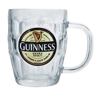 Glas-harfe (Guinness Glas Henkelkrug Pintmaß mit Guinness Logo)