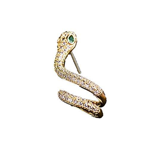 ChuangYing Europa und die Vereinigten Staaten kreative Persönlichkeit Mikro-Intarsien Zirkon schlangenförmigen Ohr Clip weibliche 925 reines Silber Nadel Nagel-einfache Temperament Schlange Ohrringe