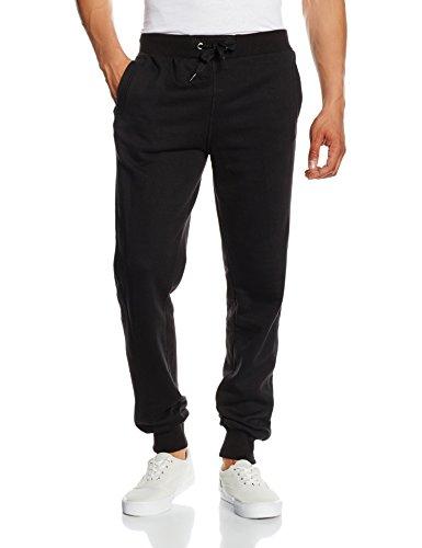 Urban Classics TB252 Herren Hose Straight Fit Sweatpants, Schwarz (Black 7), W34/L32 (Herstellergröße: L)