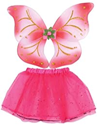 Girls Fairy Wings And Tutu Set Pink