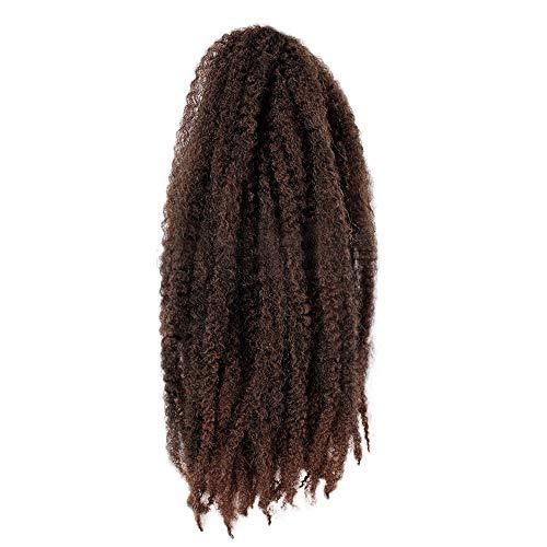 TianWlio Perücken Damen Brazil Frau Twist Braids Perücken Extensions Kunsthaar Natural Marley Braids (Für Haaren Jungs Kurzen Mit Halloween-kostüme)