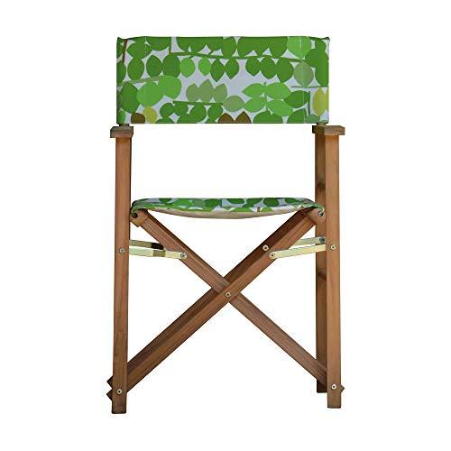 Jan Kurtz Maxx Regiesessel, Flower Greenwich Leaf Designers Guild Stoff BxHxT 51x85x53cm Gestell Teak massiv