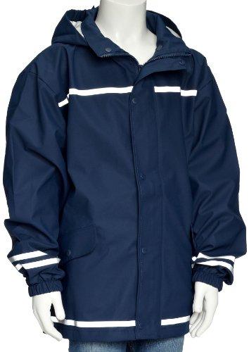 Playshoes Regenjacke uni 408635 Unisex - Kinder Regenmntel, Gr. 128 Blau (marine 11)