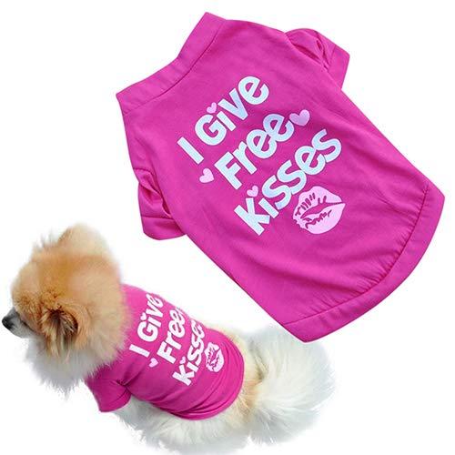 Mflbefulmel Hunde-T-Shirt für Kleine Katzen und Hunde, super süße Lippen mit Worten Welpen-Weste, Tank-Top für Hunde, Weiches Sweatshirt
