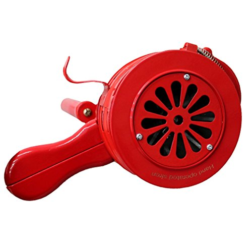 Oypla Hand betrieben Crank Air Raid Sicherheits Sirene Feuer Notfall Alarm -