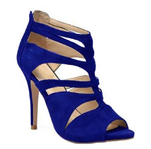 Escarpin en Daim Model GLADY par HGilliane Design Eu 33 au 44 blue