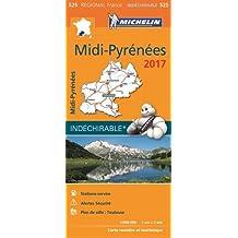Carte Midi Pyrenees Michelin 2017