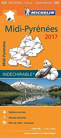 Pyrenees Michelin - Carte Midi Pyrenees Michelin