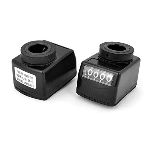 2x Hohlwelle Elektronische Digitale Positionsanzeige Schwarz 14mm Bore