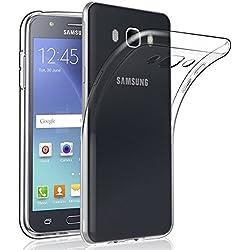 NEW'C Coque pour Samsung Galaxy J7 2016, [ Ultra Transparente Silicone en Gel TPU Souple ] Coque de Protection avec Absorption de Choc et Anti-Scratch
