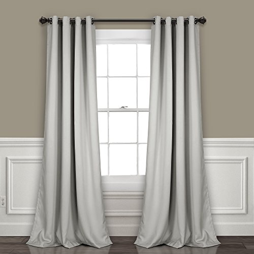 Lush Decor Curtains - Grommet Panel with with Insulated Blackout Lining, Room Darkening Window Set (Pair), 84