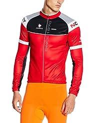 De manga larga Nalini Maillot camiseta hombre negro rojo CASTAÑA