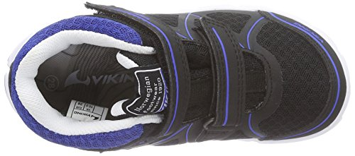 Viking TRYM GTX Unisex Kinder Sneakers Schwarz (Black/Blue 235)