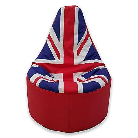 Large Bean Bag Gamer Beanbag Adult Outdoor Gaming Garden Big Chair Union Jack