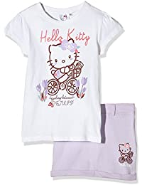 Hello Kitty Girl's Cycling 2 Pcs Outfit Clothing Set