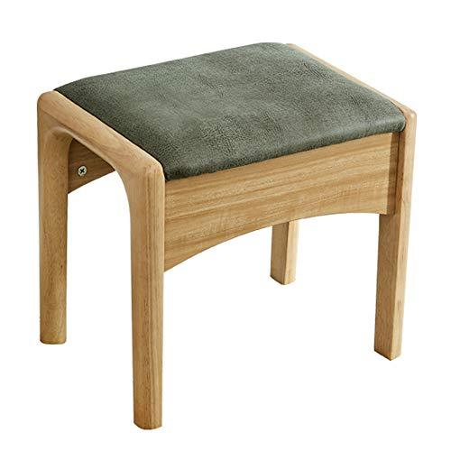 Sgabello per vestiario/sedile per trucco/sedia per pianoforte/panca imbottita, panno in pelle/gambe in legno massello/imbottito, per spogliatoio/soggiorno / camera da letto