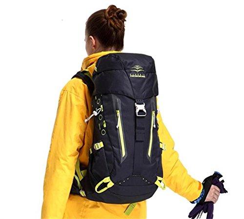 Bergsteigen Tasche Schulter männlich weiblich im Freien Wanderrucksack Schwarz