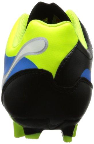 Puma  PowerCat 4 FG Jr, Chaussures de football enfant mixte Noir - Schwarz (black-fluo yellow-white-brilliant blue 03)