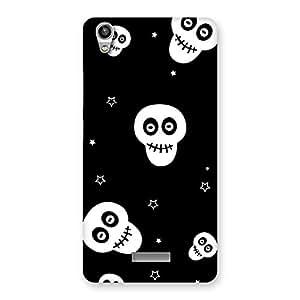 Skull Star Back Case Cover for Lava-Pixel-V1