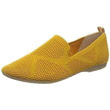 MARCO TOZZI Women's 2-2-24202-34 Loafers, Yellow (Saffron 627), 7.5 UK