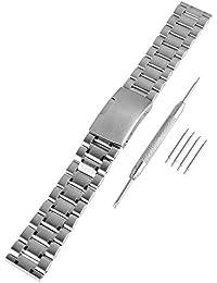 Beauty7 Kits de 16mm Correas de Relojes 304 Acero Inoxidable Cinta de Malla Hebillas Watch Band Mujeres Hombres Unisex Pulsera Moda Popular Plateado 16 mm Trabajo Formal Impermeable