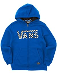 Vans Classic Kids Zip Hoody - Classic Blue Checker - Small