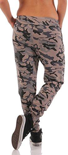malito Sweatpants im Camouflage Look Jogginghose 8043 Damen Fango