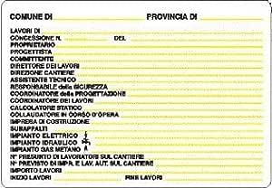 Cartello per Cantiere Concessione Edilizia 48 x 68 cm in Pvc Polionda