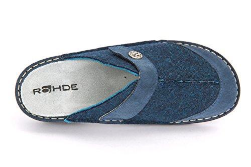 Rohde 6173 Cremona Zoccoli donna cambiamento plantare Blu