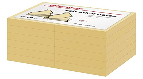 office-depot-sticky-post-it-notes-yellow-76-x-102mm-3-x-3-inches-12-pads