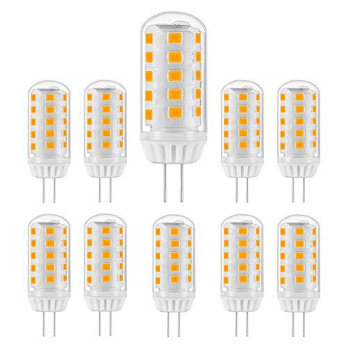 Eco.Luma G4 LED 12V AC/DC, Warmweiß 3000K, Leuchtmittel 5W Ersatz 20W 30W 40W Halogenlampe, Nicht Dimmbar, Stiftsockel 420LM Kein Flackern, 10er Pack -