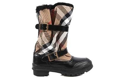 Burberry stivali donna in pelle nero Cod:3712018 EU 37 3712018