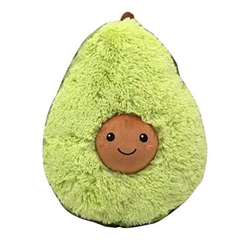 Winkey  Kissenbezüge, Gefülltes Plüsch-Avocado-Spielzeugkissen Comfort Food Avocado-Plüschkissen