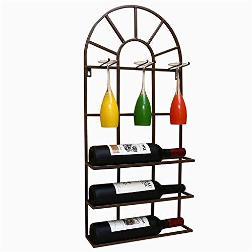 Wine glass rackXF Zfggd Weinregal Weinglas Halter Wandbehang hängenden Wein Kabinett Restaurant...