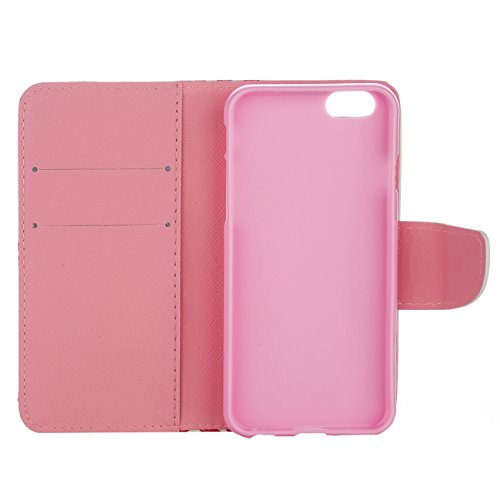 MOONCASE Étui pour Apple iPhone 5 / 5S Printing Series Coque en Cuir Portefeuille Housse de Protection à rabat Case Cover XK28 XK08 #0226