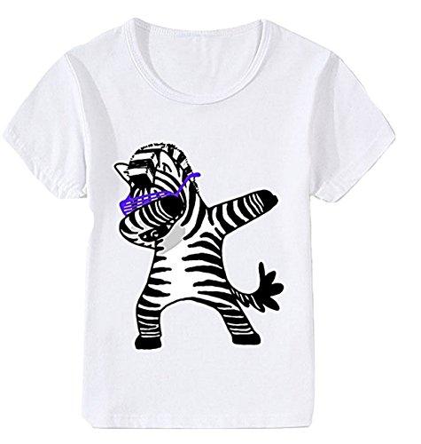 Everylon ® t-shirt bambino bambina me contro tè zebra 8 anni 140-150 cm