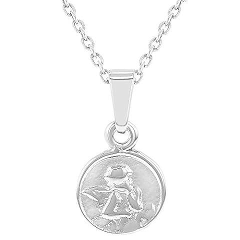 Argent sterling 925Pendentif Médaille Petit Ange gardien Collier Bébés