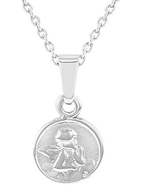 In Season Jewelry Babys - Halskette Schutzengel Kleine Medaille 925 Sterling Silber 40cm