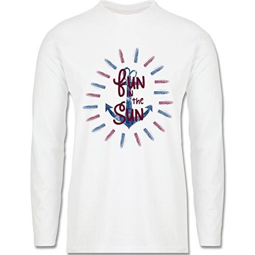 Statement Shirts - Fun in the sun - Longsleeve / langärmeliges T-Shirt für Herren Weiß