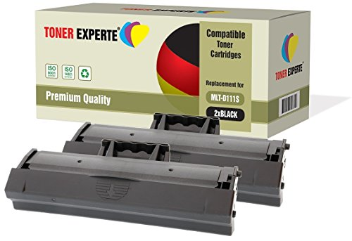 Kit 2 TONER EXPERTE MLT-D111S Toner compatibili per Samsung Xpress SL-M2020, M2020W, M2021, M2021W, M2022, M2022W, M2026, M2026W, M2070, M2070W, M2070FW, M2070F, M2071, M2071W, M2071FH, M2078, M2078W