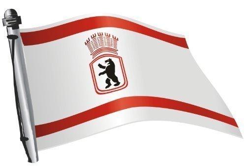 DSF Aufkleber Flagge Deutschland Ost Berlin wehend 30 x 20cm