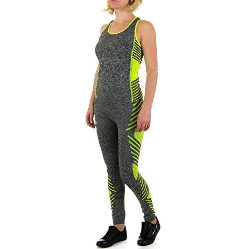 Yoga Zweiteler Sport Anzug Für Damen bei Ital-Design Grün