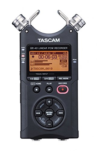 TASCAM DR-40 Mobile Stereo Recorder - 96kHz / 24Bit or MP3 up to 320kBit/s - Includes 2 GB Memory Card