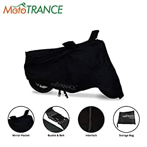 Mototrance Premium Quality Bike Cover for Royal Enfield Classic 350 (Black)