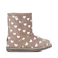 Emu Australia Brumby Heart Kids Wool Waterproof Boots Size UK 12 Grey